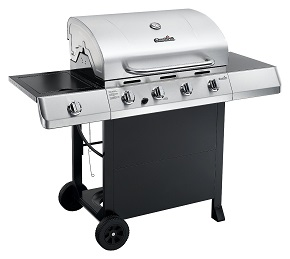 CharBroil Classic 480 40000 BTU 4-Burner Gas Grill with Side Burner