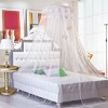 Housweety New Round Lace Curtain Dome Bed Canopy