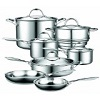 Cooks Standard 12-Piece Multi-Ply Clad Stainless-Steel Cookware Set