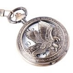 Eagle Design Pocket Watch Half Hunter Vintage Design PW-65