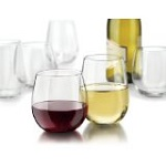 Libbey Vina 12-Piece Stemless Red and White Wine Glasses