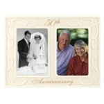 Malden International Designs 50th Anniversary Ceramic Milestones Picture Frame