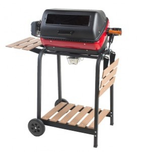 Meco Aussie 9329W Deluxe Electric Cart Grill with Rotisserie