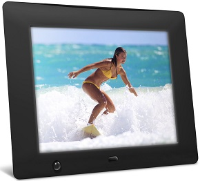 nix 8 inch digital photo frame with motion sensor