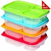 Sunsella Buddy Boxes-Plastic Bento Lunch Boxes