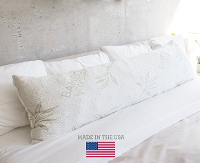 The Original Shredded Memory Foam Body Pillow with Bamboo Cover By Coop Home Goods