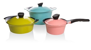 Vremi Colorful Nonstick Ceramic Die Cast Aluminum Cookware