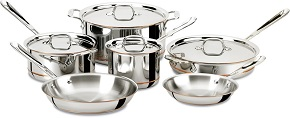All-Clad 600822 SS Copper Core 5-Ply Bonded Dishwasher Safe Cookware Set