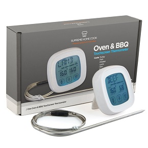 Supreme Home Cook Oven & BBQ Touchscreen Digital Meat Cooking Thermometer