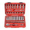 TEKTON 13101 3/8-Inch Drive Socket Set, Inch/Metric, 45-Piece