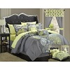 Chic Home 20-Piece Olivia Paisley Print Reversible Comforter Set