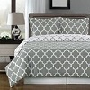 Royal Hotel Gray and White Meridian 3-piece Duvet-Cover-Set