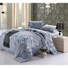Vaulia Cotton Blend Well Designed Printed Floral Pattern Duvet Cover Set
