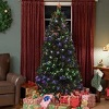 Best Choice Products Pre-Lit Fiber Optic 7' Green Artificial Christmas Tree with LED Muticolor Lights and Stand
