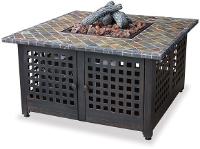 Blue Rhino GAD860SP LP Gas Outdoor Firebowl with Slate/Marble Mantel
