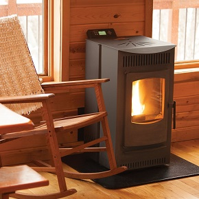 Castle 12327 Serenity Wood Pellet Stove with Smart Controller