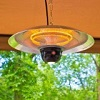 Ener-G+ Indoor/Outdoor Ceiling Electric Patio Heater with LED Light and Remote Control
