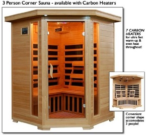 Heat Wave 3-Person Corner Sauna
