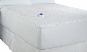 Soft Heat Micro-Plush Top Low-Voltage Electric Heated Queen Mattress Pad