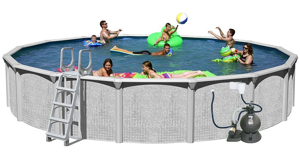 Splash Pools Above Ground Round Pool Package, 24-Feet by 52-Inch