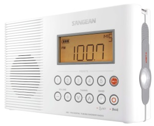 Sangean H201 AM-FM-Weather Digital tuned Waterproof Shower Radio big