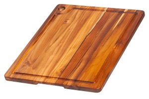 Teak Rectangle Edge Grain Cutting Board