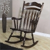 Coaster Rocking Chair with Carved Detail