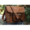 HLC Leather Unisex 100% Genuine Real Leather Messenger Bag