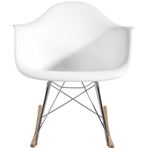 Eames Style Molded Modern Plastic Armchair