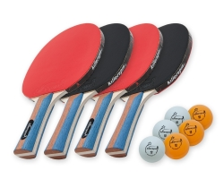 Killerspin JETSET 4 Table Tennis Paddle Set with Balls