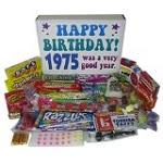 40th Birthday Gift Basket Box of Retro Candy
