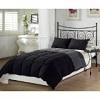 Chezmoi Collection Black Grey Super Soft Goose Down Alternative Reversible Comforter