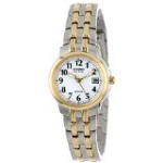 """Citizen Women's EW1544-53A Eco-Drive """"Silhouette"""" Two-Tone Stainless Steel Watch"""
