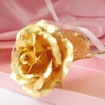 KDLINKS 24K 6 Inch Gold Foil Rose