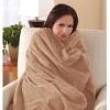 Sunbeam Microplush Throw Camelot Cuddler Electric Heated Warming Blanket