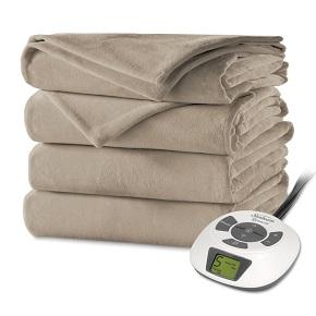 Sunbeam Velvet Plush Heated Blanket, ChoiceTouch Controller