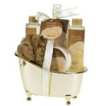 White Rose Jasmine Gold Tub Spa Bath Gift Set