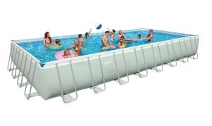 Intex 32 x 16 x 52 Ultra Frame Rectangular Swimming Pool Set