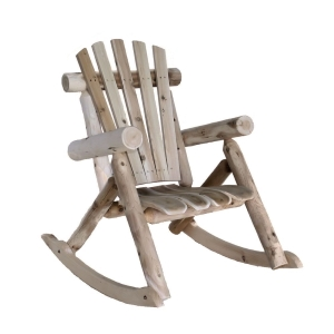 Lakeland Mills Cedar Log Rocking Chair