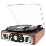 1byone-belt-drive-3-speed-stereo-turntable-with-built-in-speakers