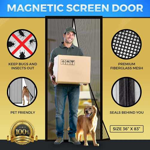 tadge goods Magnetic Mesh Bug Screen