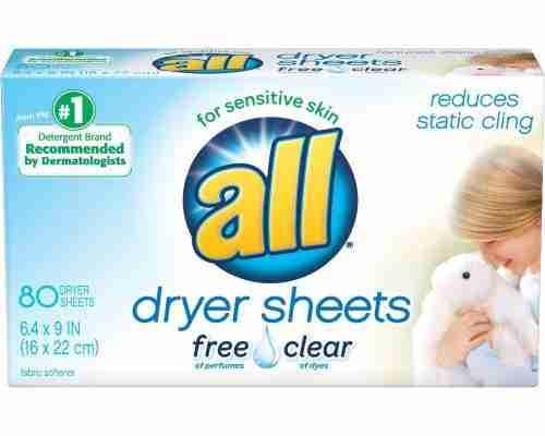 all Fabric Softener Dryer Sheets for sensitive skin